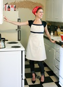 emmeline apron (polka dot side)