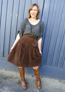 Annie get your gun! - cord skirt front