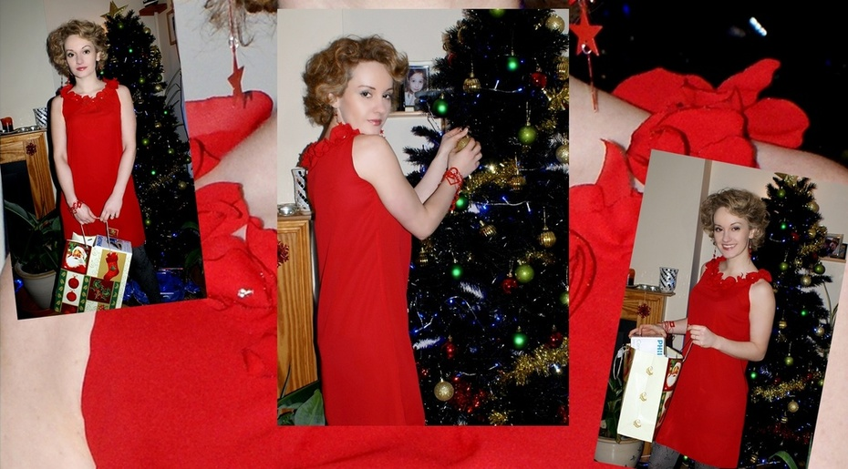 My Christmas Roses Dress