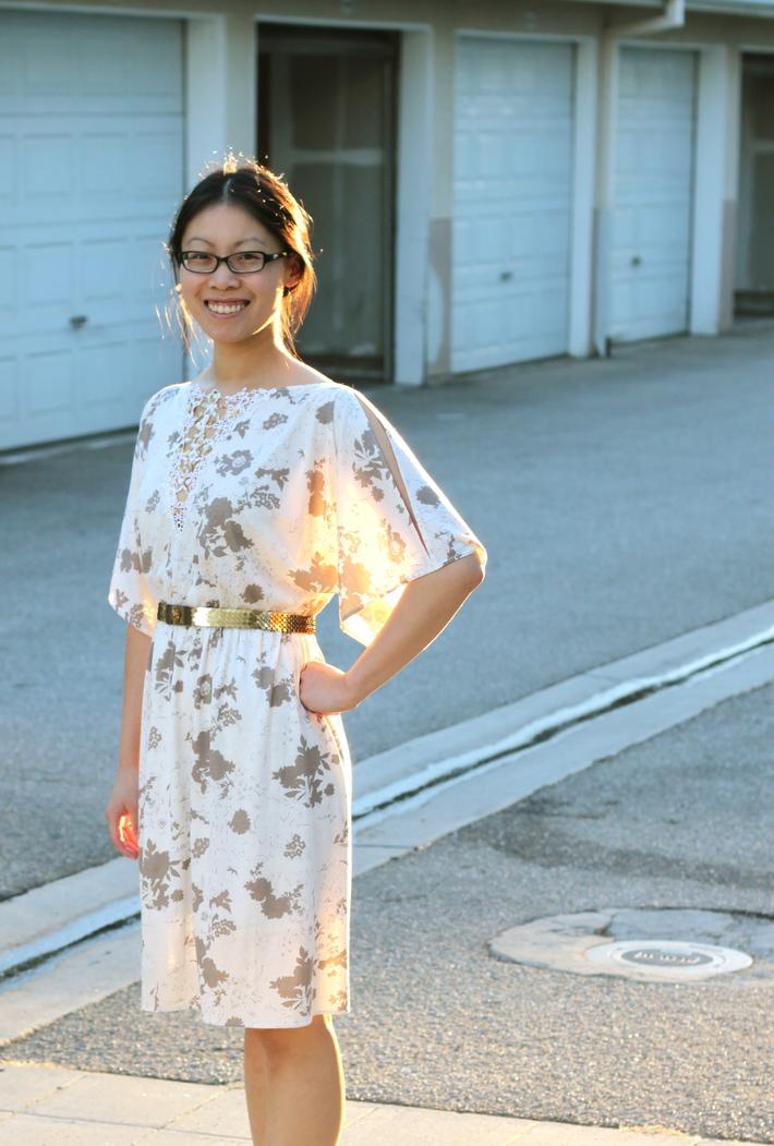 Golden Oatmeal Dress