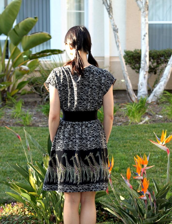 """Classy"" Summer Dress, Back View"