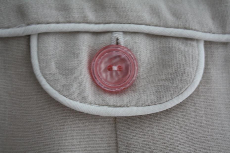 Coin pocket detail