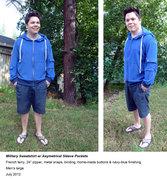 Military Sweatshirt w/ Asymmetrical Sleeve Pockets