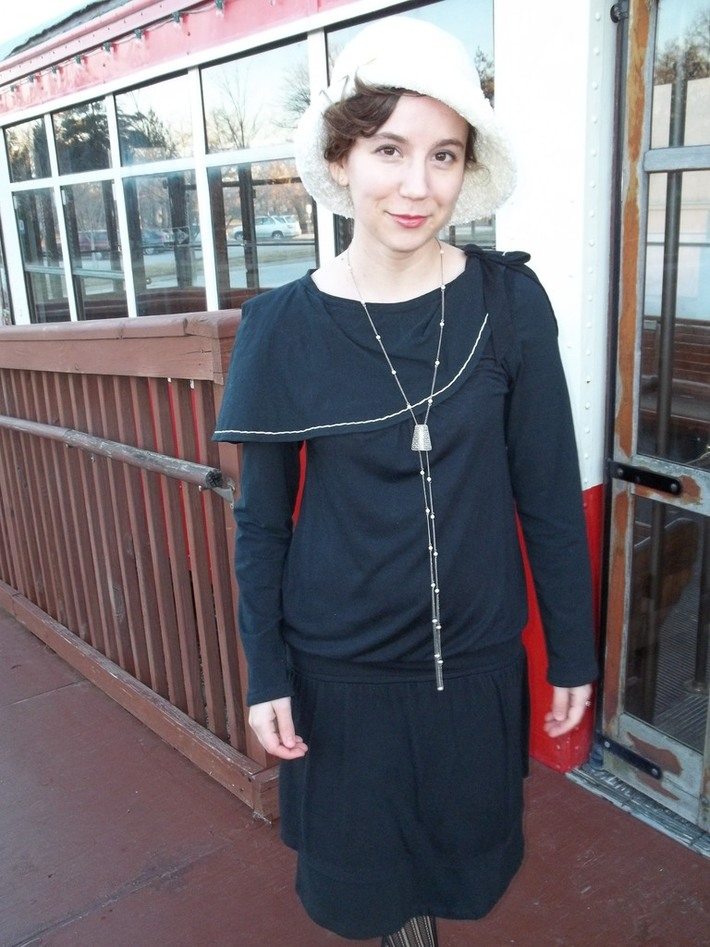 """My """"Modern"""" 1920's Shawl Collared Dress"""
