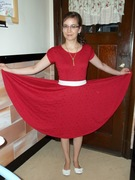 Star-Spangled Red Knit Dress