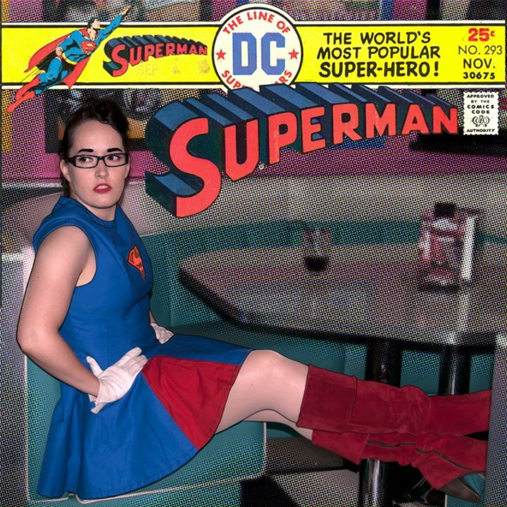 Superman inspired dress