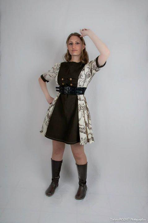 Steampunk inspired dress