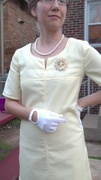 60's Style A-Line Dress - front details