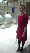 'Modern Art' Red Knit Dress