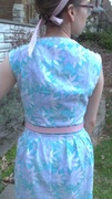 Border Print 50's Dress - back view