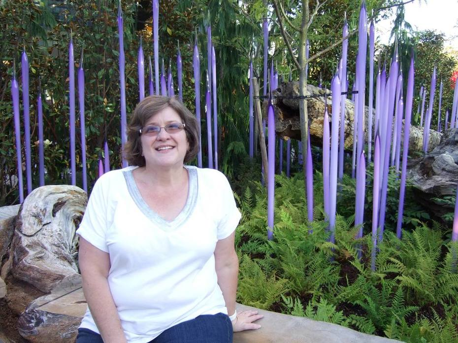 Shelly at Chihuly Garden
