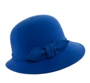 Cobalt Cloche with matching bow