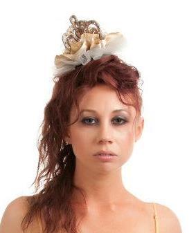 Gilded Queen Crown Fascinator