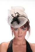 Hatsonheads Designer hat making kit  -Style 4 Ivory/Black