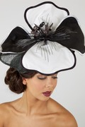 Black and White Rose- Wedding or Ascot Hat