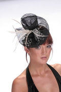 Hatsonheads Designer hat making Kit  - Style 4 Black/Ivory