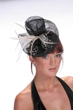 Hatsonheads Designer hat making Kit  - Style 4 Black/Ivory