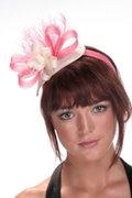 Hatsonheads Designer hat making kits - Style 3 Pink/Ivory