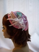 Pink Buckram Cocktail Hat