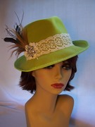 Lime Green Fedora