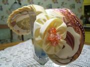 Yellow Silk, Floral Headband Hat