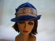 Royal Blue Military Crown w/ Asymetrical Brim