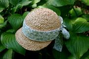 raffia straw ladies golf hat
