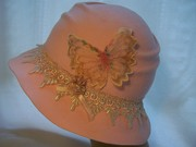 Pink and Champagne Free Form Cloche