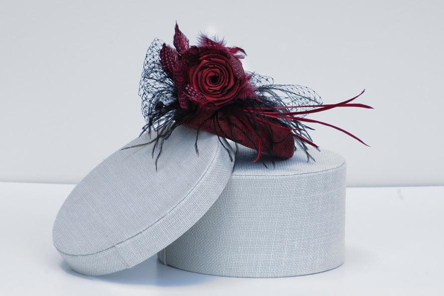 Burgundy-pill-box-hat 5