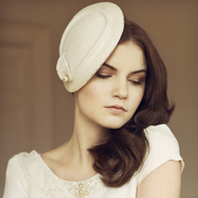 Vintage style bridal hat
