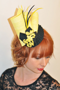 fascinators_and_hats_gretel_fascinator_yellow_black_lrg