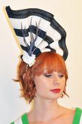 hats_and_fascinators_galyle_fascinator_navy_white_2_lrg