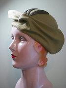 Celery Green Sculptural Wool Hand-Blocked Hat