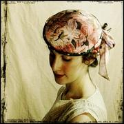 Hand Painted Silk Coolie Tilt Hat