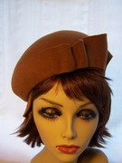 Brown Cap / Beret Two in One Hat