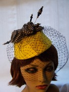 Bright Yellow Percher Hat
