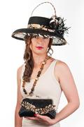 RITA Sinamay Hat & Clutch