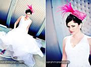 Tina Kite Millinery, Hot Pink Feather Fascinator