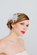 Tina Kite Millinery, Bridal Lace and Feather Fascinator