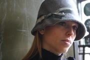 Tina Kite Millinery Grey Cloche