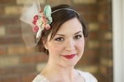 Tina Kite Millinery, Vintage Velvet Leaf and Flower Bridal Headband