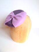 Miss Purples Button Cocktail Hat