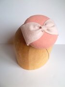 Just Peachy Button Cocktail Hat
