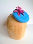 Sparkly Flower Button Cocktail Hat