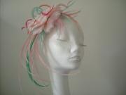 Aqua/pink headpiece