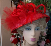 Red Royalty Ascot Hat