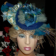 Royal Blues Vintage Hat