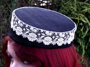 Black & White Pillbox Hat