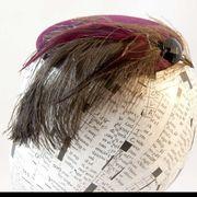 Burgundy-Fascinator-Feather