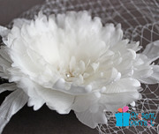 Bridal peony decorated with freshwaterpearls